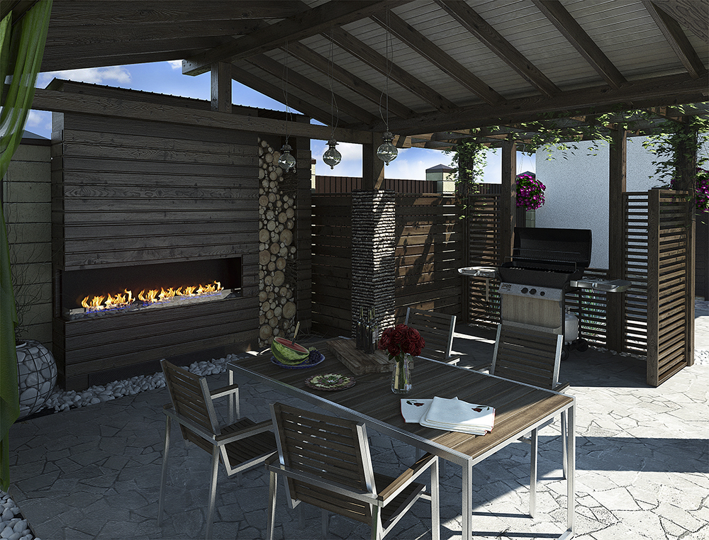 Using Propane Outdoors with a Fireplace & BBQ