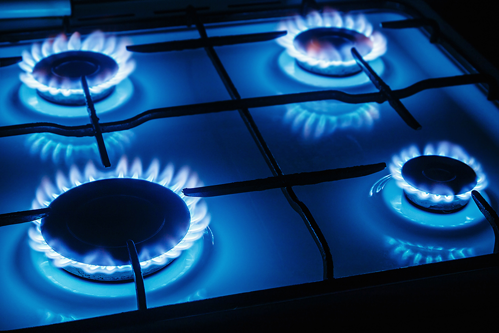 One of Uses of Propane, gas stove top